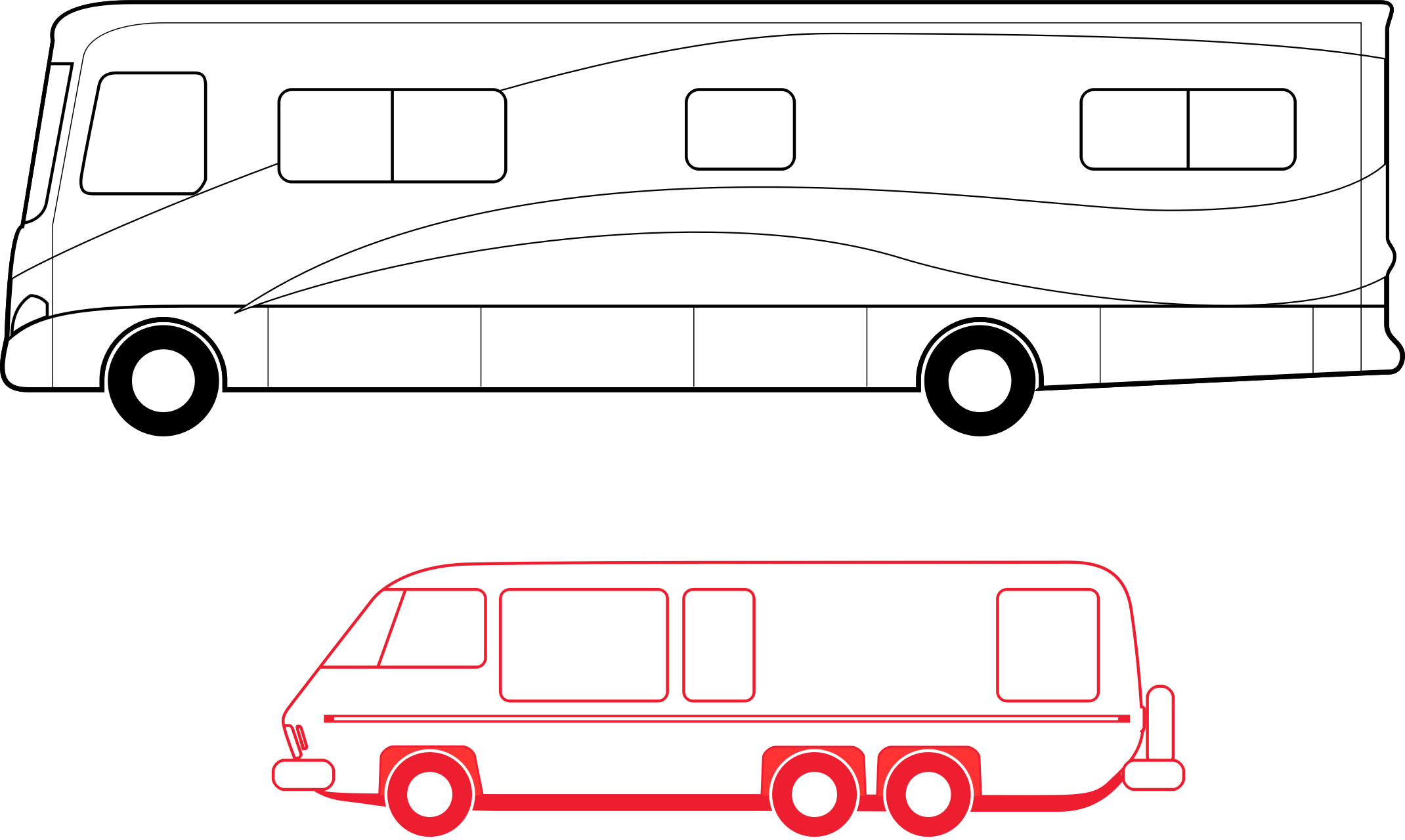 Rv svg vector. Two motorhomes icons png