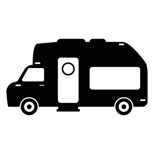 Rv svg vector. Camper van flat icon