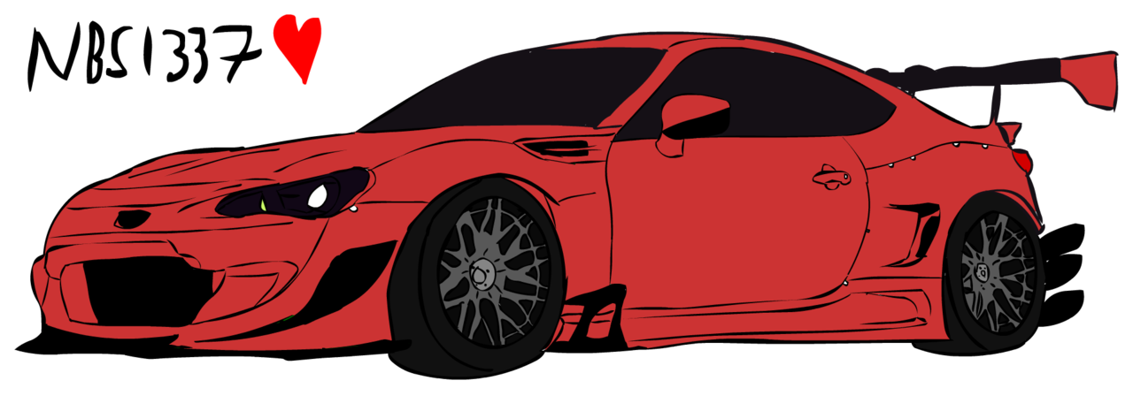 rx7 drawing subaru brz