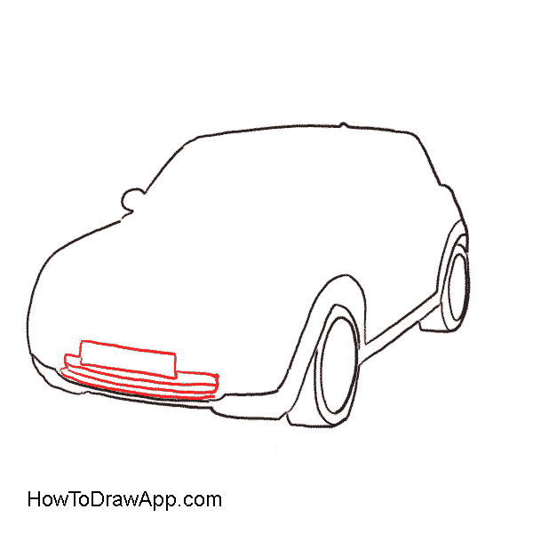 Rx7 drawing side view. How to draw a