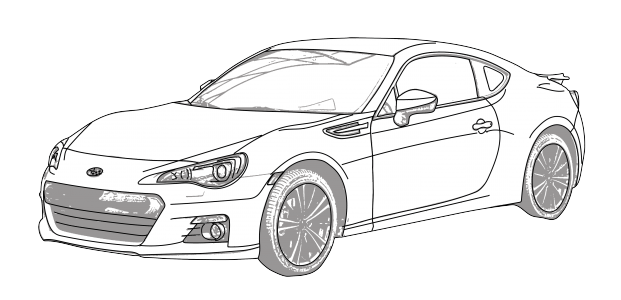 Subaru drawing easy.  collection of brz image free download