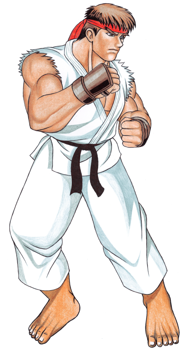 Ryu street fighter 2 png. Ii sprite hd by