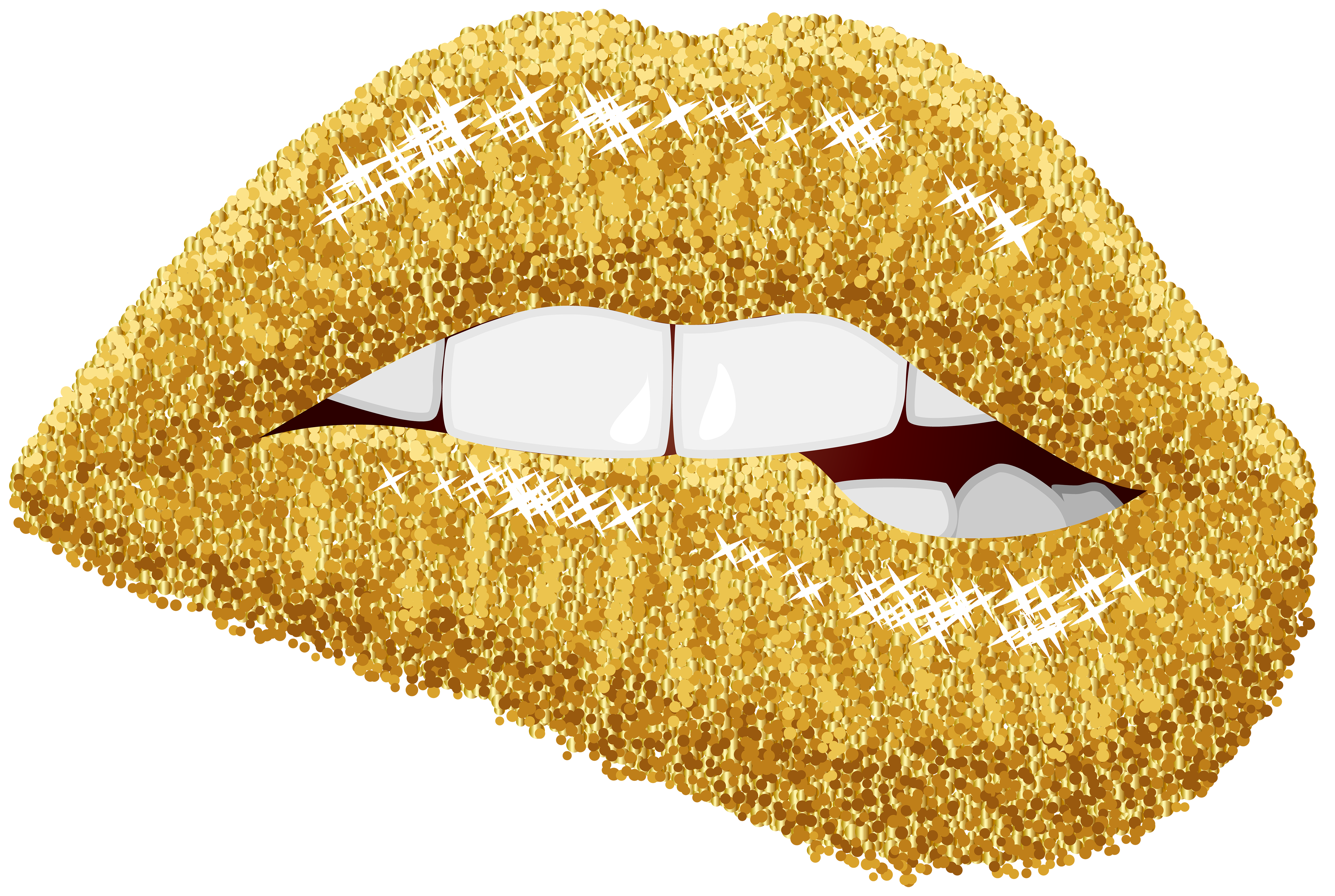 Gold lips png. Clip art image gallery