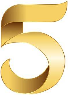 S clipart gold. Deco number three png