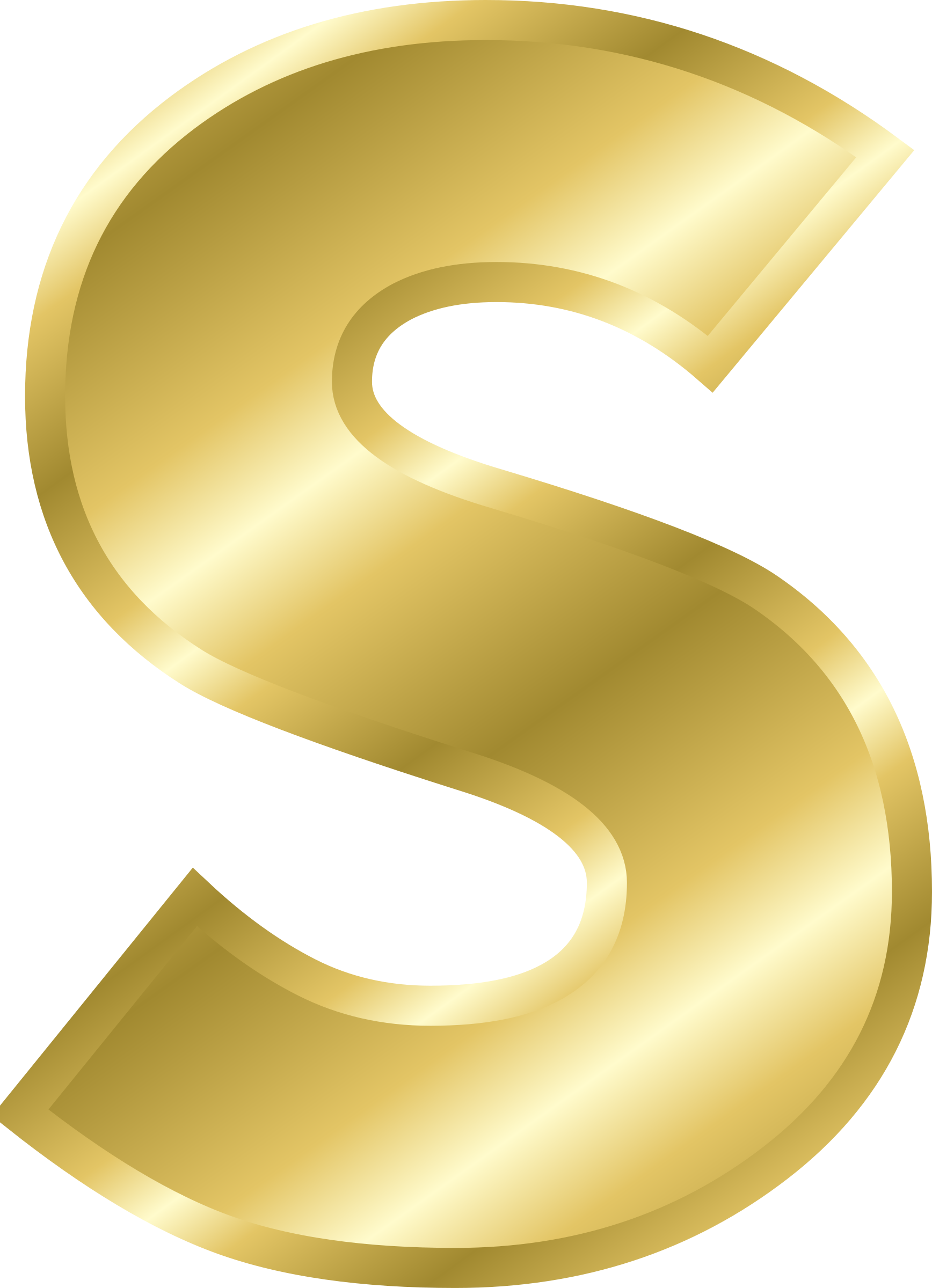 S clipart gold. Effect letters alphabet big