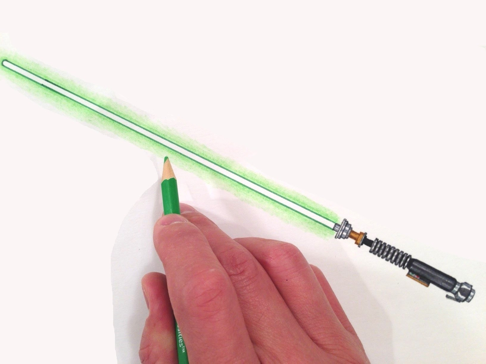 Saber clipart green lightsaber. How to draw luke