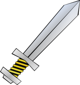 Yellow clipart sword. Panda free images swordclipart