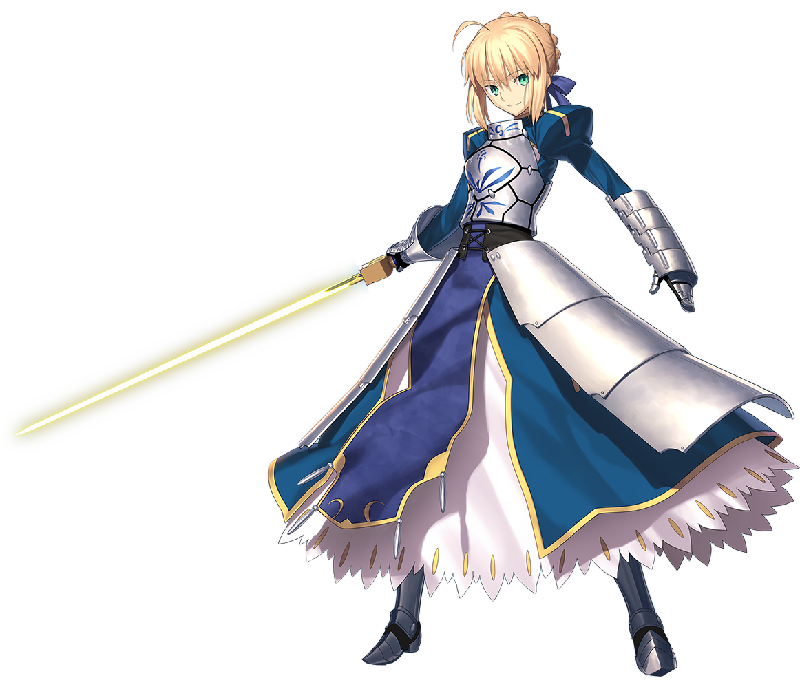 Saber transparent. Fate stay night vs