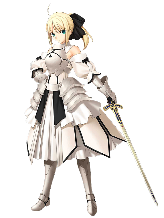 Saber transparent character. Fate zero who are