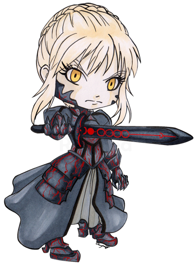 Saber transparent chibi. Alter by ranefea on