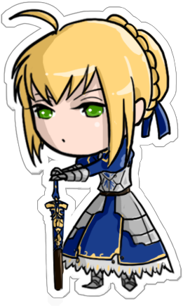 Saber transparent chibi. By lilith the th