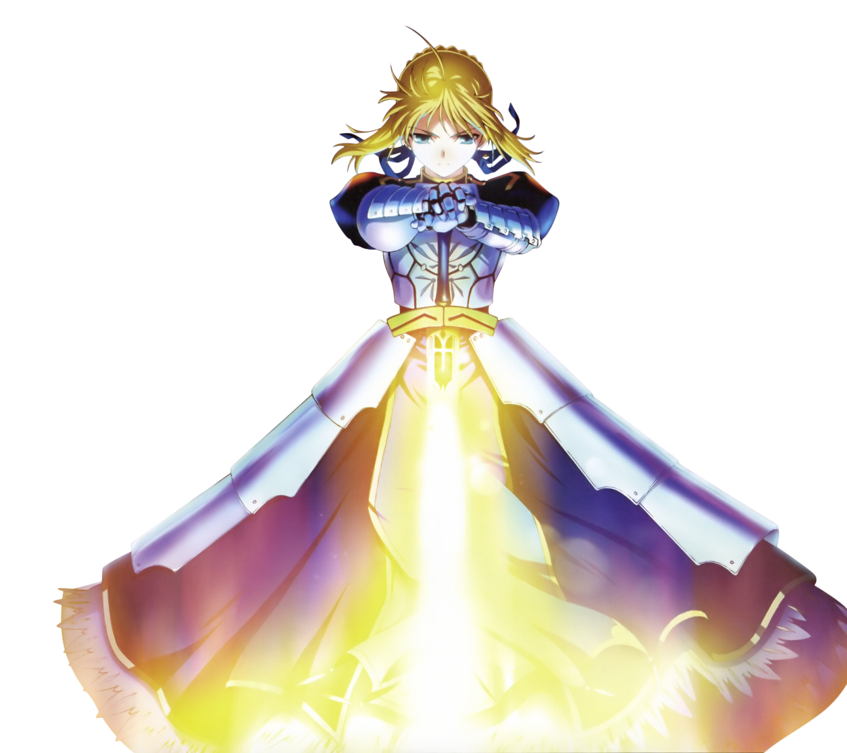 Saber transparent excalibur. Fully charged vs agrias