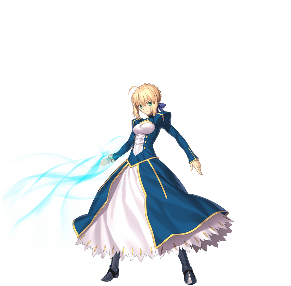 Saber transparent fate series. Render