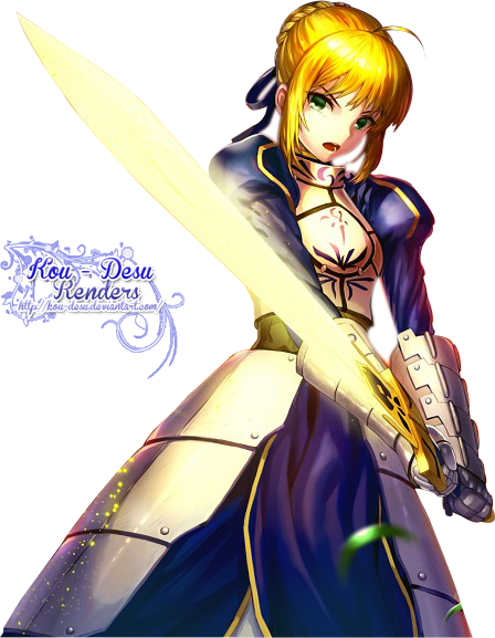 Saber transparent fate zero. Render stay night by