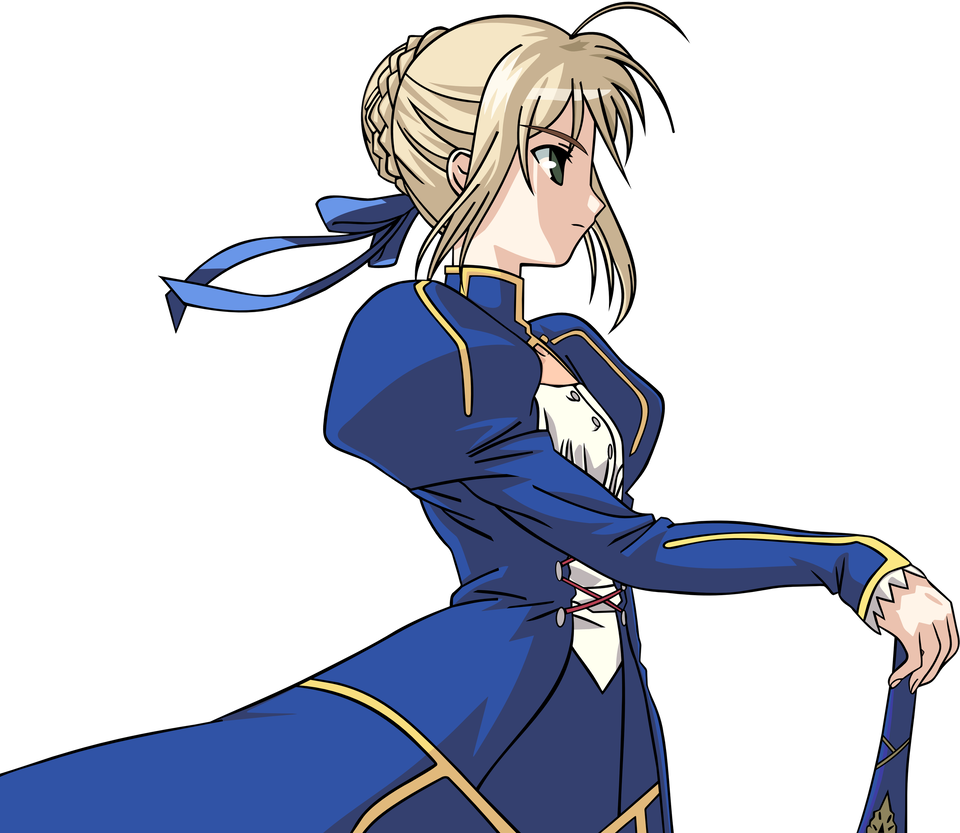 Saber transparent fate zero. Stay night by johnprestongc