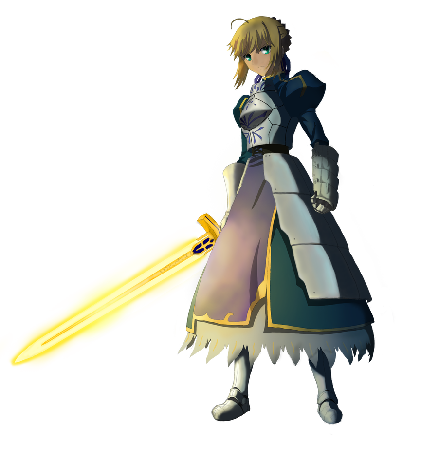 Saber transparent fate zero. Stay night png by