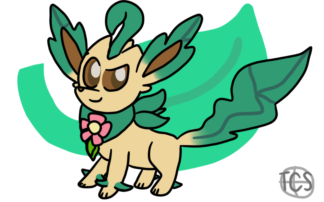 Saber transparent happy. Art trade the leafeon