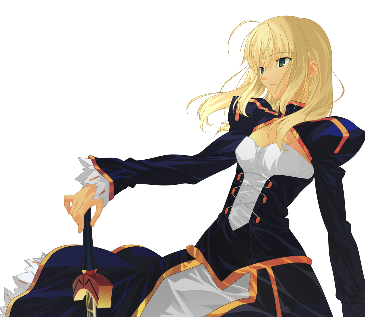 Saber transparent vector fate. Without the armor by