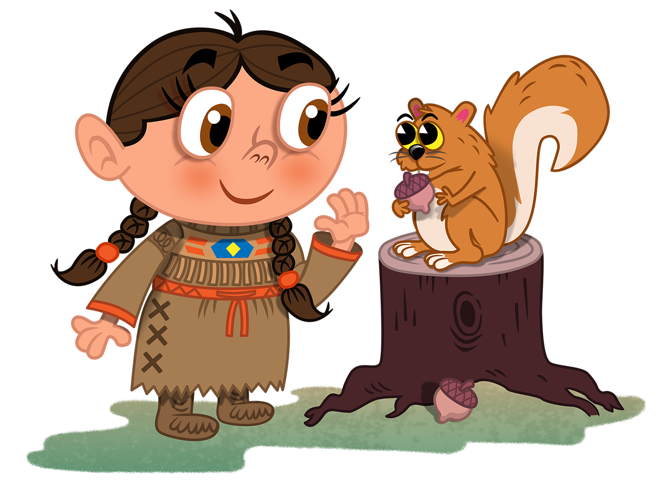 Sacagawea drawing animated