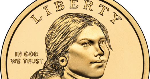 Sacagawea drawing face. Smithsk america s story