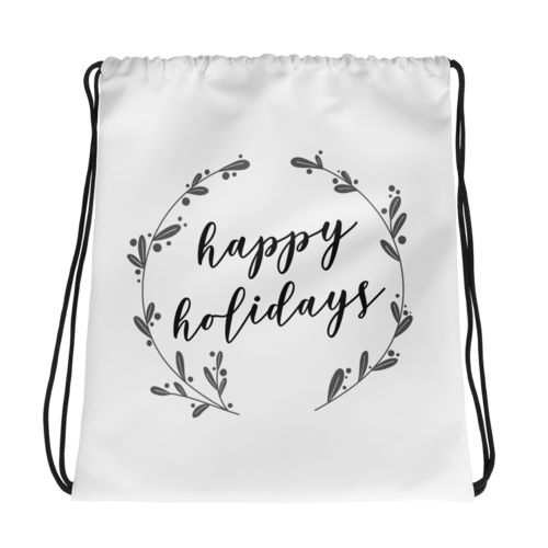 Sack drawing happy. Holidays gift bag sieger
