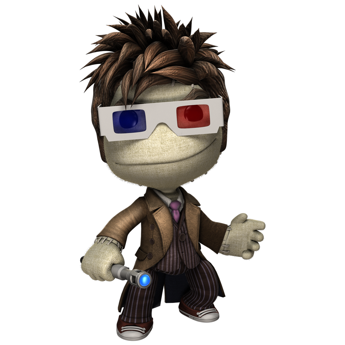 Sackboy drawing. Doctor who is arriving