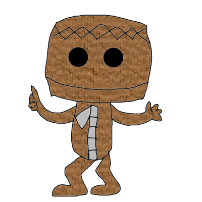 Sackboy drawing undertale. Transparent background page doll