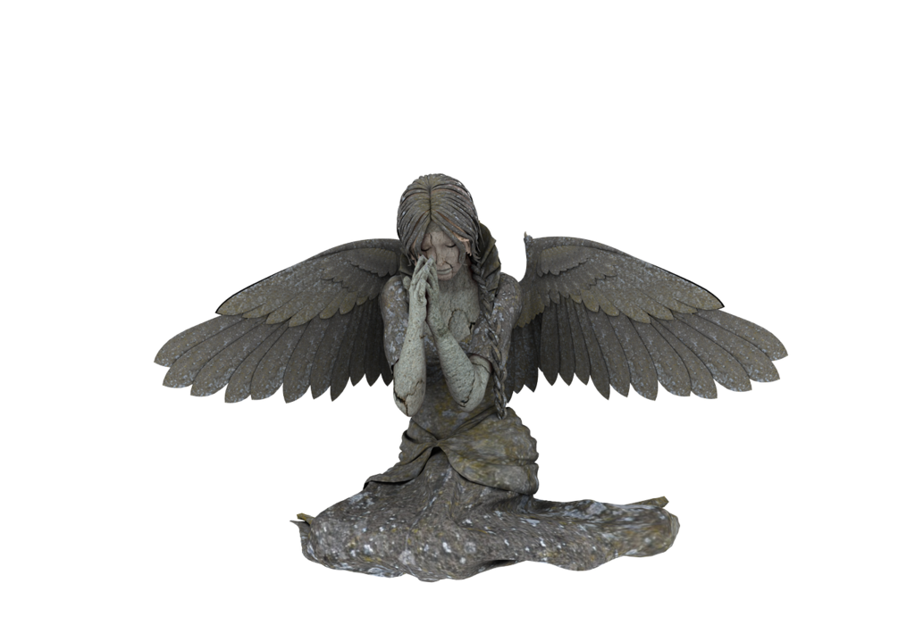 Sad angel png. Statue by neverfading stock