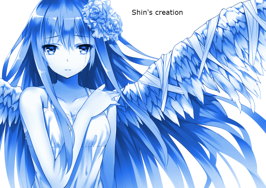 Sad angel png. Render anime the by
