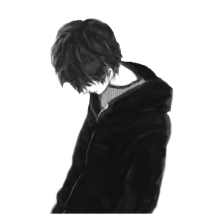 Guy by xdarkivyx on. Sad anime boy png free download