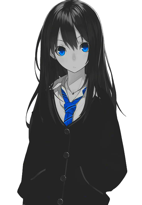 Sad anime girl png. Image in collection by