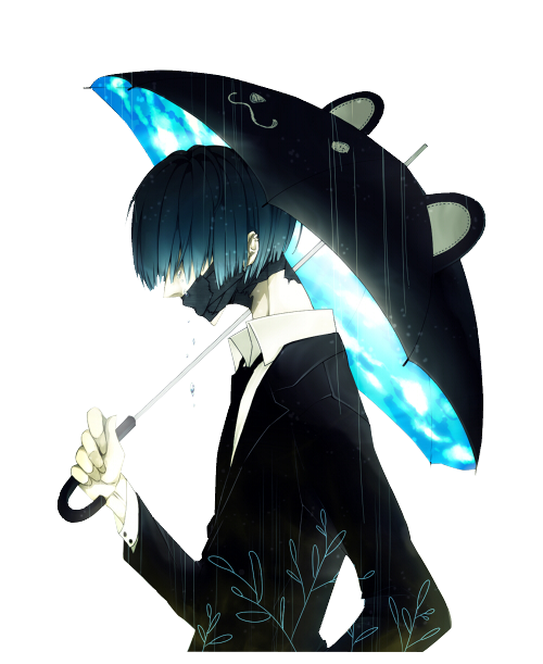Sad anime png. Lonely rain discovered by
