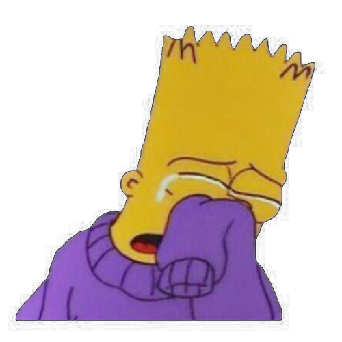 Sad bart png. Simpsons discovered by vic