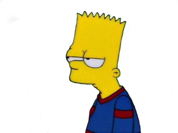 Sad bart png. Avatan plus