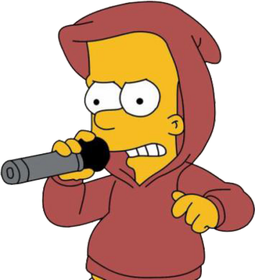 Bart drawing gangster. Simpson pictures images graphics