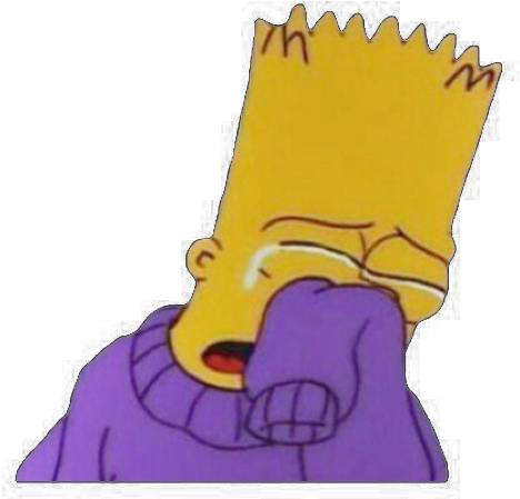 Sad bart png. Download hd simpsons and