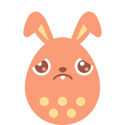 Sad bunny png. Red icon easter egg