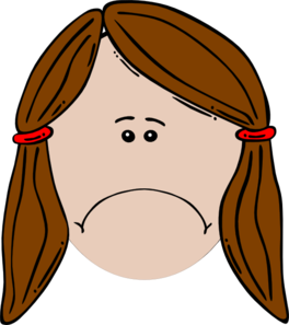 Sad woman. Female clipart