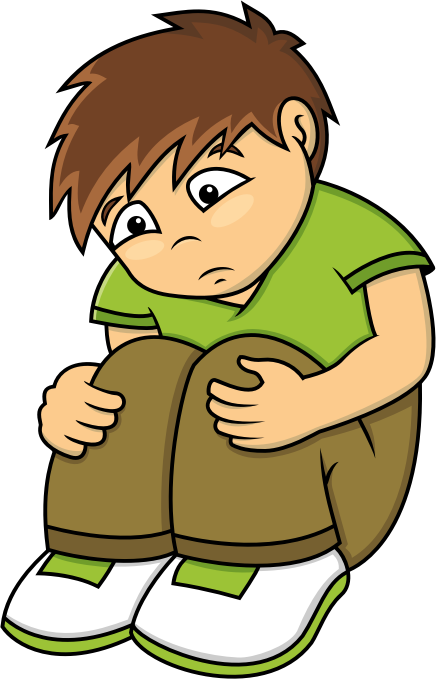 Sadness clipart lonely student. Sad boy