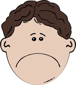 Boy face clip art. Sad clipart graphic library