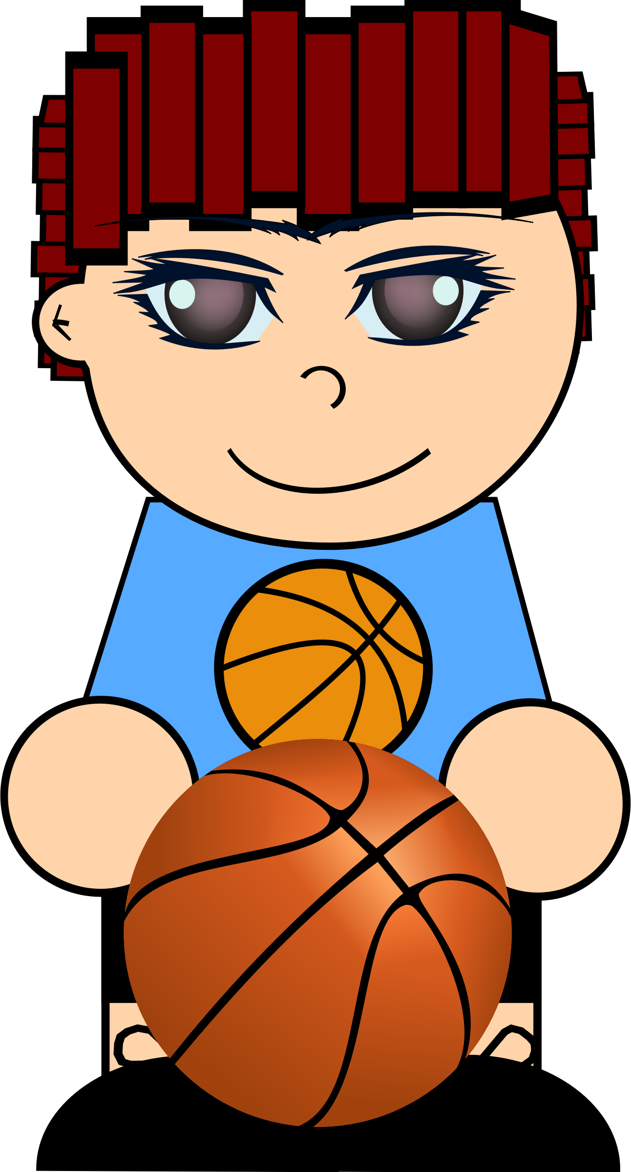 Sad clipart basketball. Boy with big image