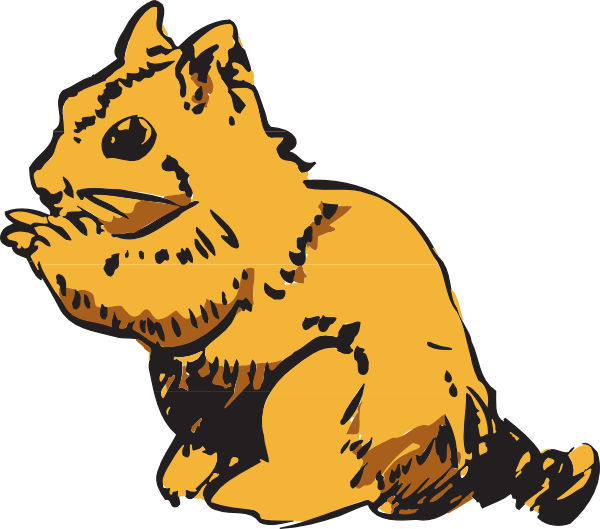 Chipmunk clipart. Image of squirrel free