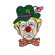 Sad clown png. Face water bottle spreadshirt