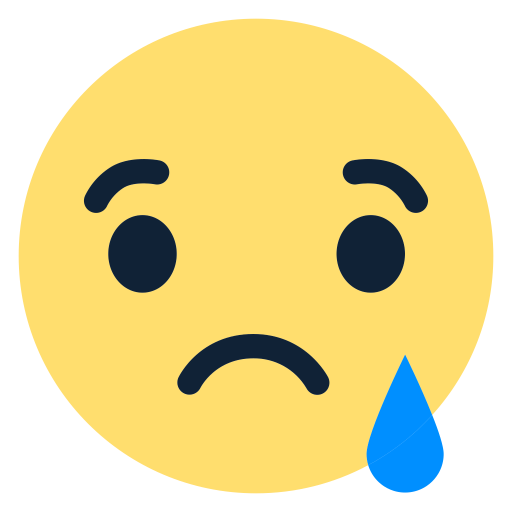 Facebook reactions png. Sad emoji icon free