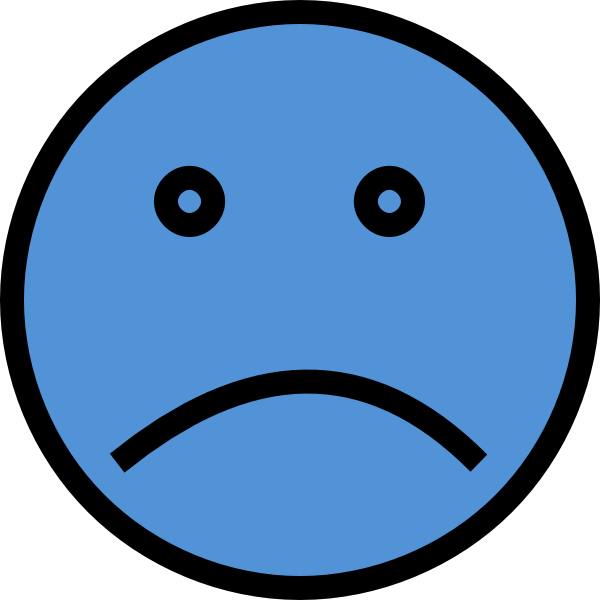sad face vector png