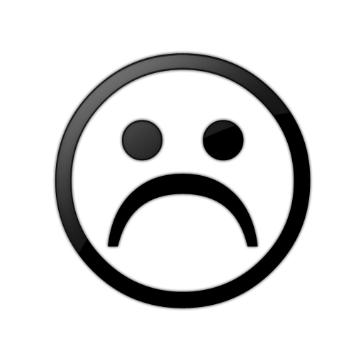 Sad face clipart png. Black and white free