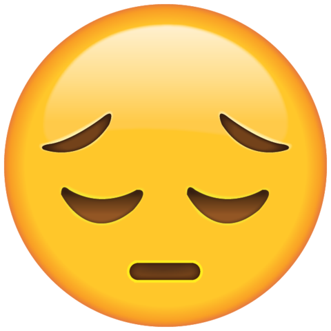 Sad face emoji png. Download icon in island