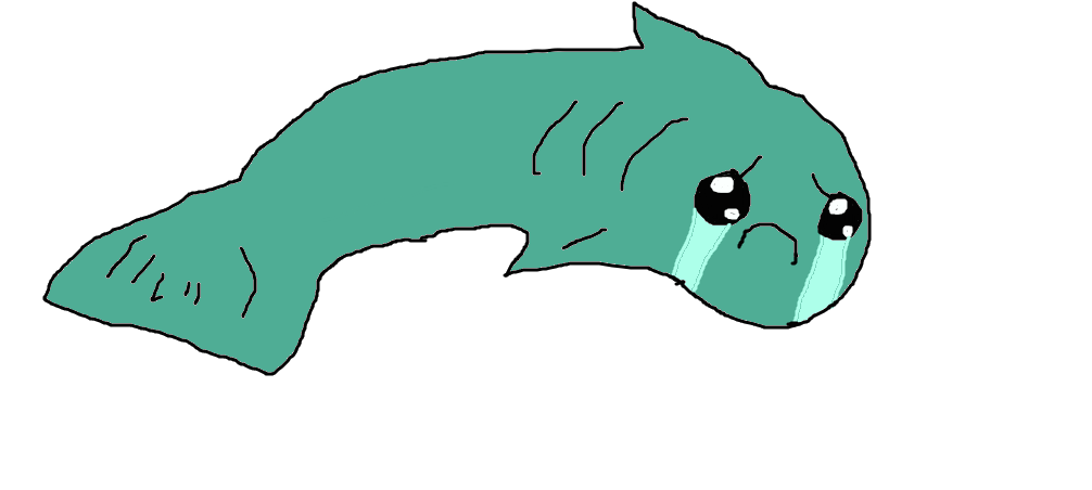 By tigerwolf on deviantart. Sad fish png svg black and white stock