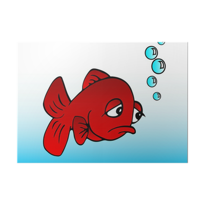 Sad fish png. Poster pixers we live