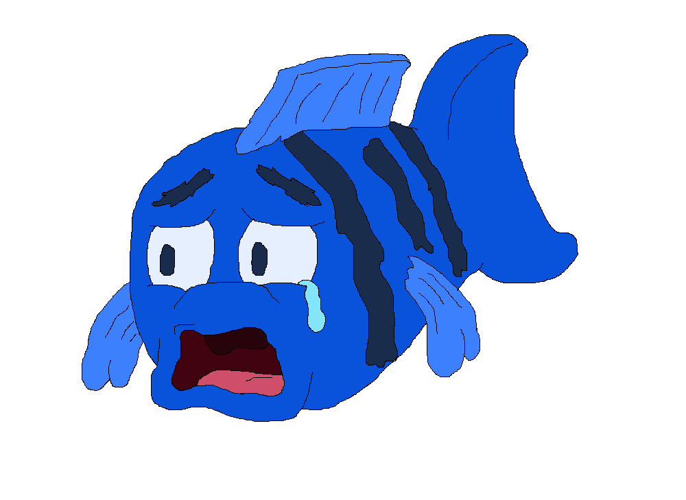 Sad fish png. By tmaneea on deviantart
